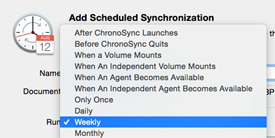 Customize your sync scheduling options